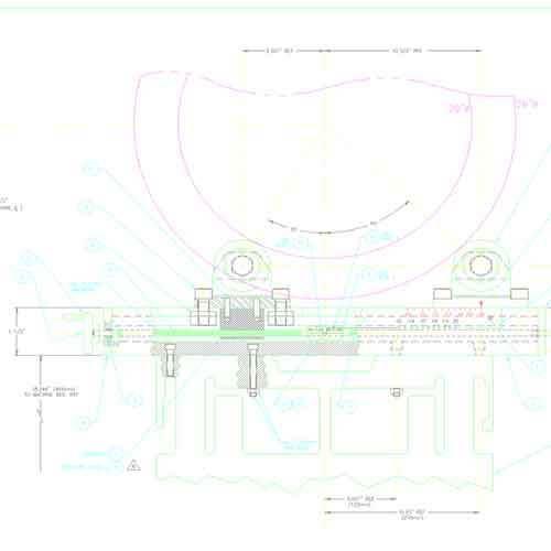 CAD design plans for a new NDT system
