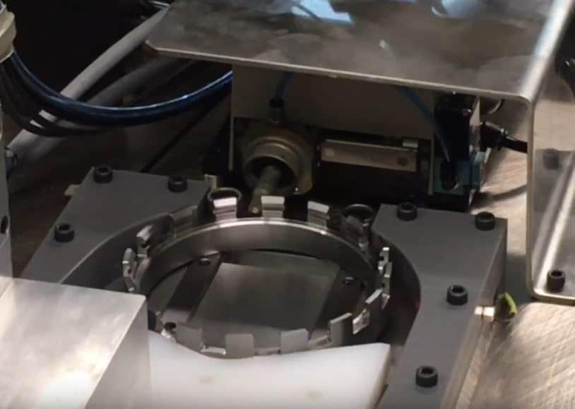 Salem NDT dot peen marking on a transmission gear