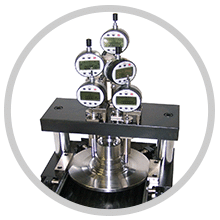 Spindle gauging testing machine for parts and components