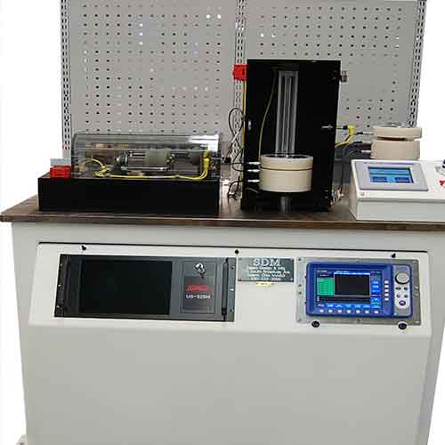 Custom designed testing system designed to inspect manufactured parts